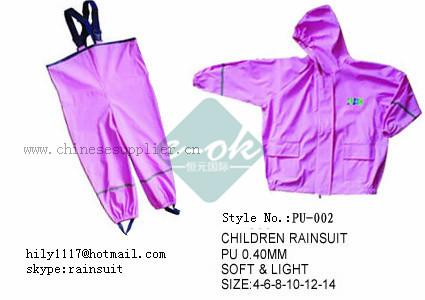Children PU Raincoat 2