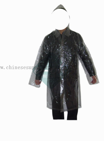 transparent rain suit