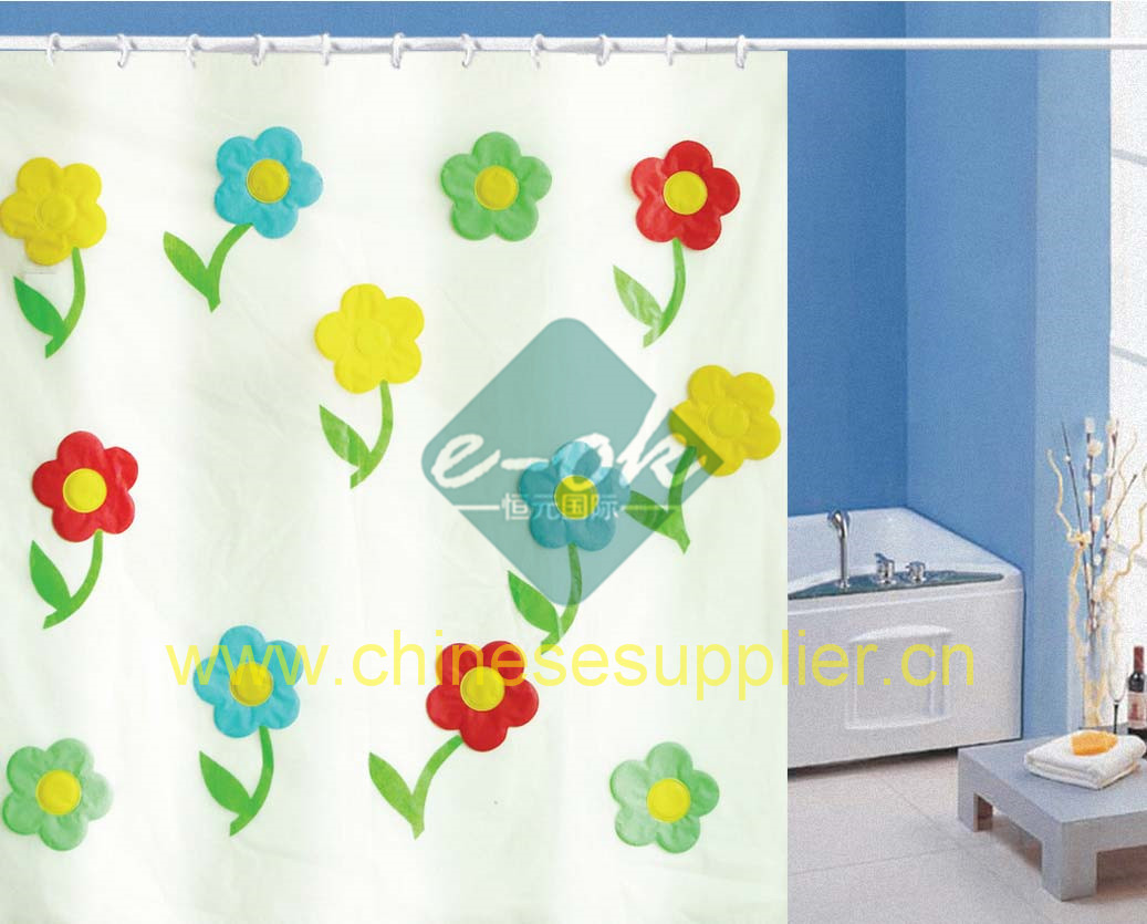 Baby bathroom shower curtains